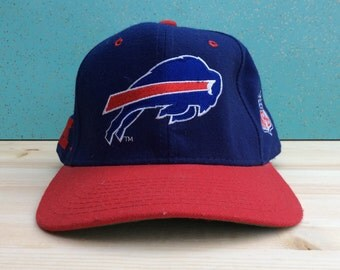 Vintage 90's Buffalo Bills Wool Starter Hat Fitted Big Logo Size 7 & 1/8