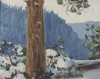 Original Oil Painting/ Don Foster Original Painting/ Snowscapes/ Winter Scenes/ Mountain Snowfall
