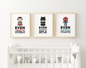 Superhero Trio Print Pack