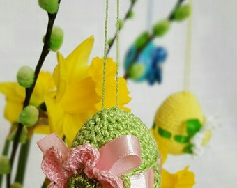 Easter Crochet Egg Easter Ornament Spring Decor Decorative package included