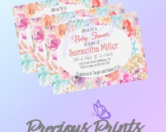 Pastel Baby Shower Invitation