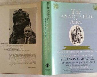 The Annotated Alice Alice's Adventures in Wonderland & Through the Looking Glass By Lewis Carroll 1960