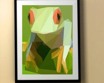 Frog - Home Decor Wall Art Print.