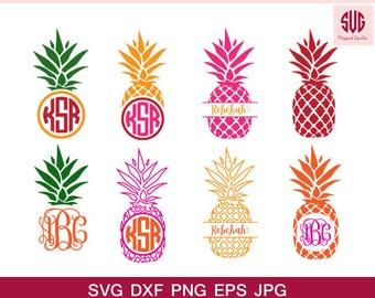 Pineapple svg,Pineapple vector graphic, Pineapple cut files, Pineapple monogram frames, svg files,svg