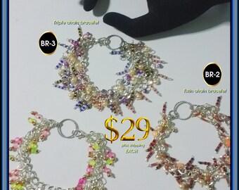 Art Jewel Handmade Jewelry Gifts Triple & Twin Chain Bracelets