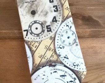 Hand-Made Gents Neck-Tie - steampunk clock design