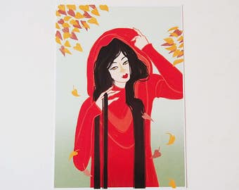 CHAPERON ROUGE - DYF#2 - illustration print - A5