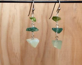 Green Trio Earrings II