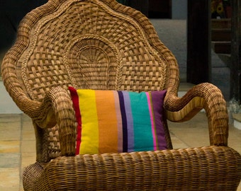 Magnificent Hand-woven Pillow Cover  from Oxchuc - Mexico