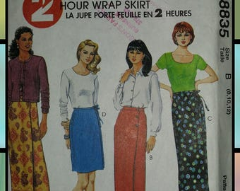 2 Hour Wrap Skirt - 8-10-12 - McCall's 8835