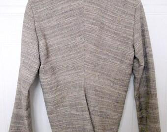 Vintage LANVIN PARIS elegant swallowtail tweed blazer jacket