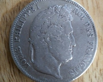 Louis Philippe 1833 Maggie head silver type Austin Vintage French