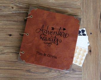 Adventure Awaits Guest Book/our adventure Photo Album /personalized Wedding Guest Book/weddinng photo album