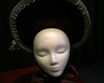 Victorian Bonnet with Flowered Accent