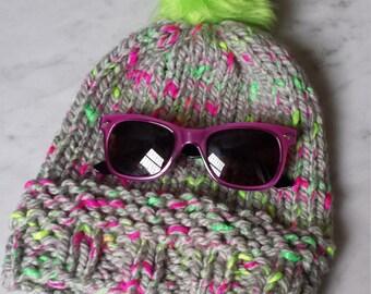Bright, Bulky, Winter Cap