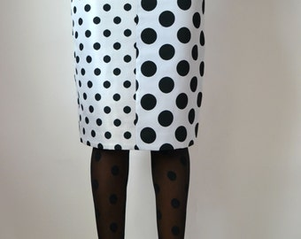 High Waist Polka Dot Pencil Skirt