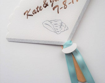 Personalized paper hand fan - set of 10
