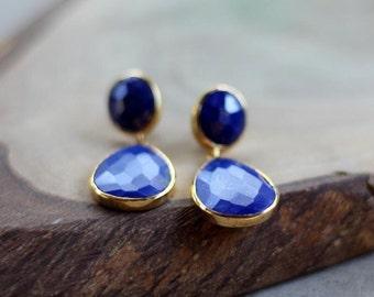 Lapis Lazuli Earrings - Bezel Set....LIMITED EDITION