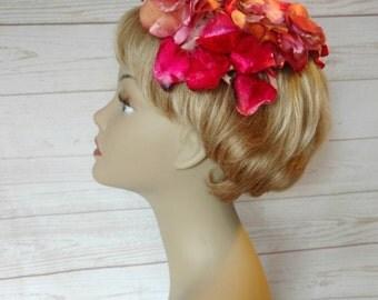 Bright Pink Flower Hat - Shocking Pink Hat - Hot Pink Flower Hat - Blossom Hat - 1960s Floral Hat - Easter Hat - Spring Hat