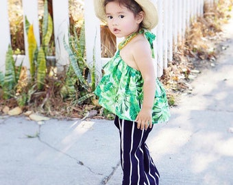 La Palmera Top /  Toddler Top / Baby Top / Palm Leaves / Tropical / Baby clothing / Toddler Clothing / Summer Top