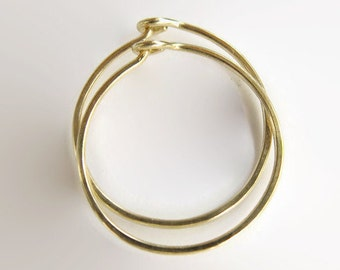 Gold Hoop Earrings, Handmade Earrings, Modern Earrings, Classic Errings, Gold Jewelry, Minimalist Look, Timeless Gold Earrings, Gold Creoles