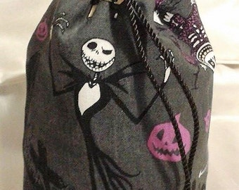 Jack Skellington, Nightmare Before Christmas, drawstring bag, handbag, purse, UK