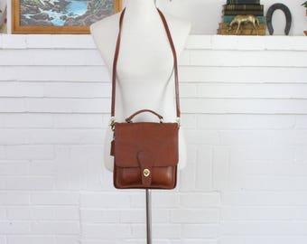 Vintage Coach Bag // Crossbody Bag // Station Messenger Bag in British Tan // Coach Purse Handbag