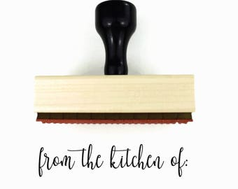 "Rubber Stamp ""From The Kitchen Of"" - For the Chef or Baker Crafty Mom, Mother's Day Gift Stamp"