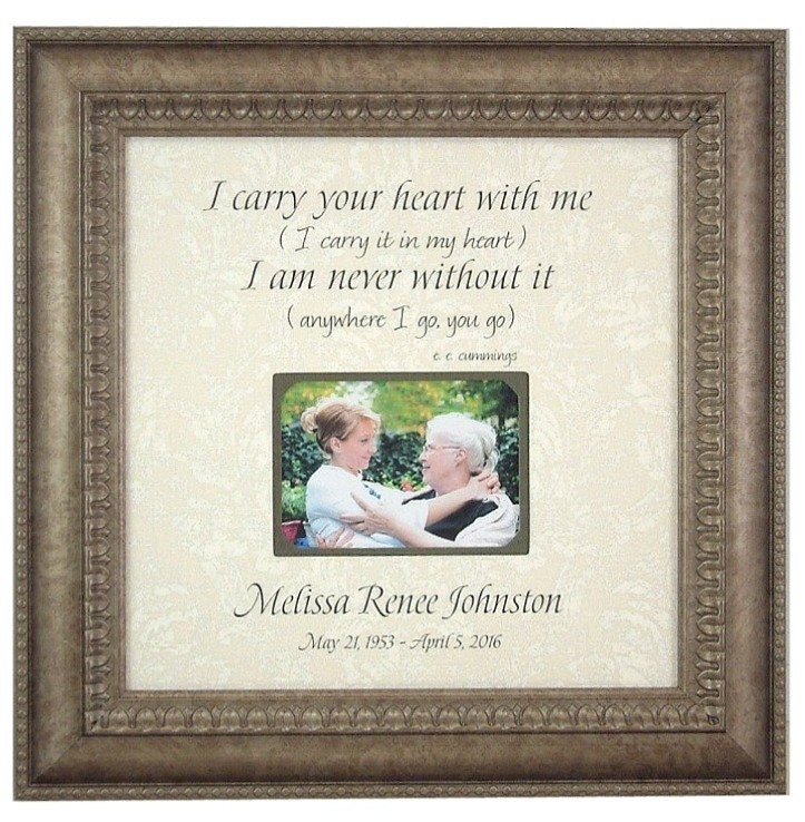 Memorial Photo Frame Gift In Memory Of Frame I Carry