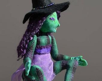 Halloween Witch Art Doll OOAK Gisela