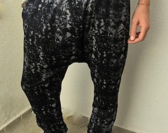 Mens Harem Pants- Linen Pants, Men's Black Pants,Mens Pants, Drop Crotch Pants , Mens Khadi Pants,Mens Clothing,  Mens Fashion