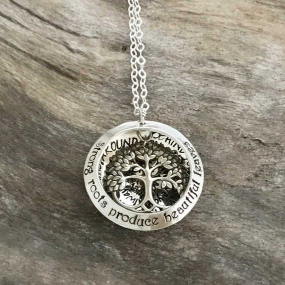 Mothers  Jewelry/ Mom Necklace/ Tree of Life Sterling Sterling/Gift for Mom/Mom Jewelry/ Family Tree Necklace/Mothers  for Grandma