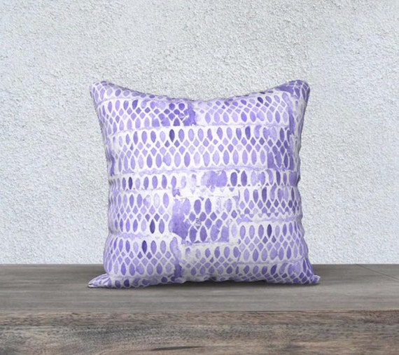 Purple Cushion Cover in Velveteen