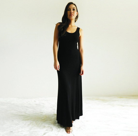 Lexie Maxi Dress / Black Jersey
