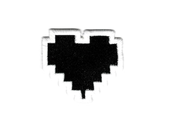 """Zelda """"Health Bar Container - Empty Heart"""" Inspired - Embroidered Iron-on Patch"""