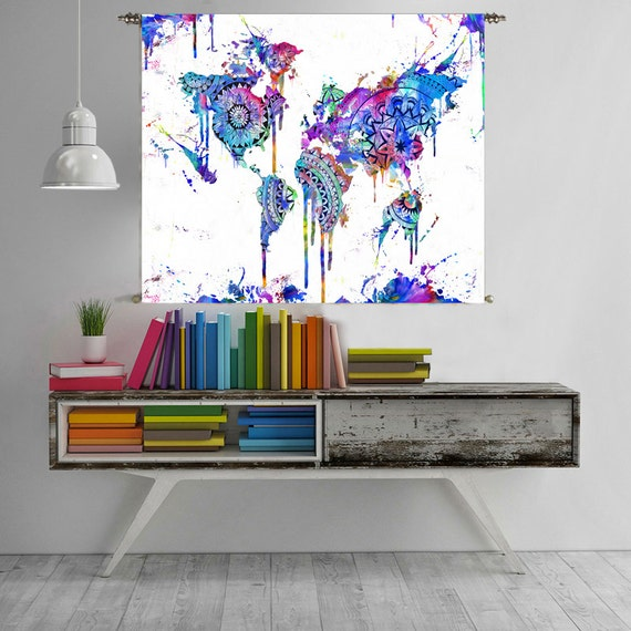 World map tapestry wall hanging world map canvas world map like this item gumiabroncs Images