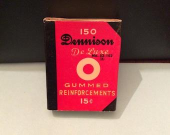 Vintage DENNISON DeLuxe No. 2 Gummed REINFORCEMENTS Empty Box