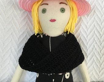 One-of-a-kind handmade cloth doll: Doretta