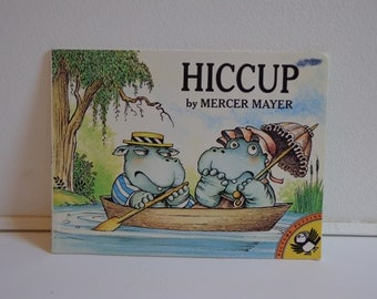 Rare Hiccup by Mercer Mayer 1976 Illustrated Children's Book, Pied Piper Puffin Books Special Edition, Artwork, Ephemera