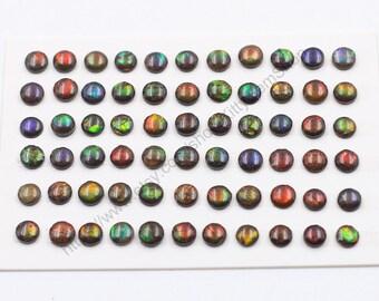 7mm Round Ammolite Cabochons
