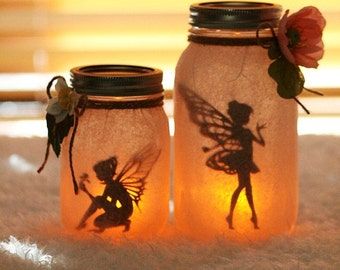 Fairy Jar - Fairy Lantern - Fairy Decor - Night Light - Nursery Decor - Wedding Centerpiece - Baby Shower Centerpiece - Luminary - Mason Jar