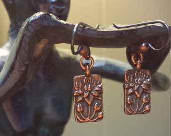 Copper Lilly Petite Dangle Earrings