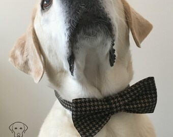 Houndstooh Bow Tie & Collar OR Bow Tie Only *OPTIONAL