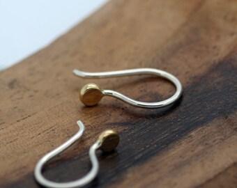 TINY MIGHTY, Petite Earrings, 18k Gold, Sterling Silver, Everyday Earrings, Dainty Earrings, Minimalist Earrings