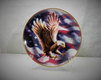 The American Eagle Plate by Ronald Van Ruyckevelt  - The Franklin Mint