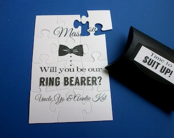 Be our Ring Bearer Card, Be My Groomsman Puzzle card Best Man Invitation card  Best Man puzzle card, Ask Groomsman,  Best Man Proposal Card