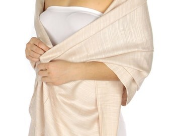 Blush Pashmina Scarf - blush Bridesmaid's gifts - blush Bridesmaid scarf - blush bridal - light pink party favors - pink wedding shawl