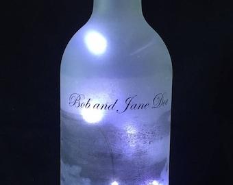 Custom Lighted Wine Bottle
