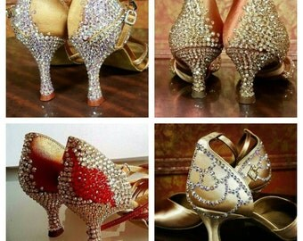 Custom Crystallizing for Dance Shoes
