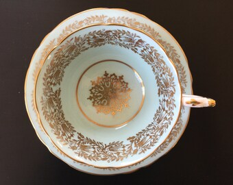 A simply stunning vintage Paragon teacup and saucer from the 1930's.